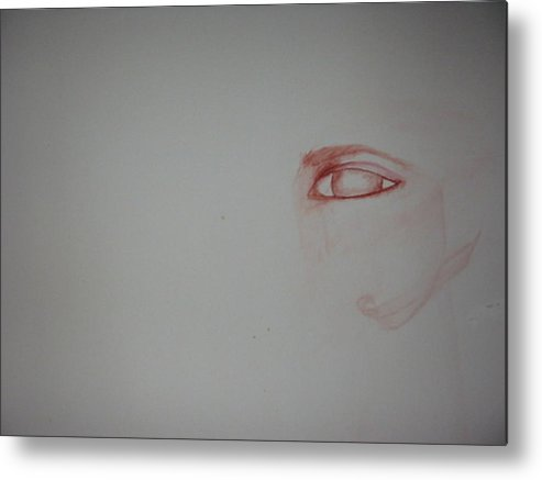 Watercolor Eye Art Metal Print featuring the painting Just An Eye by Marian Hebert