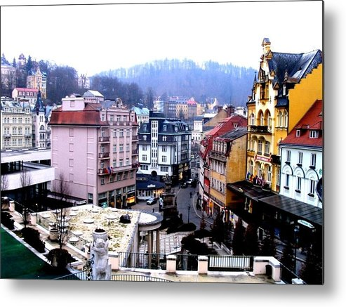 Karlovy Vary Metal Print featuring the photograph Karlovy Vary Cz by Michelle Dallocchio