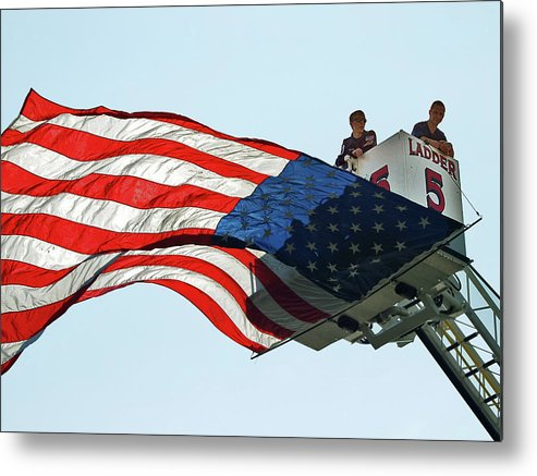 Fire Metal Print featuring the photograph Ladder Number Five by Frank Nicolato