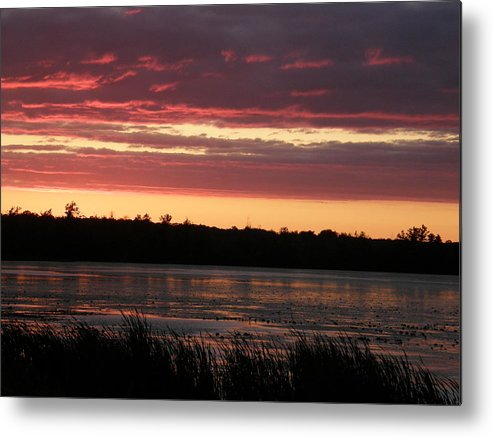 Sunset Metal Print featuring the photograph Lake Sunset by Alice Markham