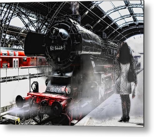 Train Metal Print featuring the photograph Leaving Never Is Easy by Joachim G Pinkawa