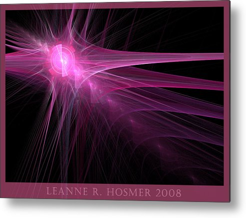 Abstract Metal Print featuring the digital art Lh18 by LeAnne Hosmer