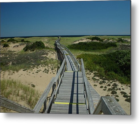 Landscape Metal Print featuring the photograph Long Walk by Eric Workman