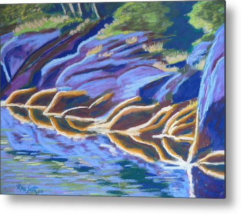 Seaweed Metal Print featuring the pastel Low Tide On Cross Island by Rae Smith