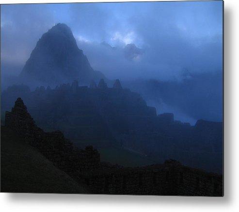 Landscape Metal Print featuring the photograph Machu Picchu Dawn by Sam Oppenheim