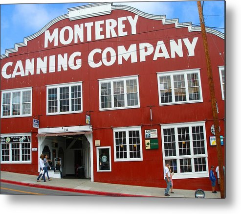 Art Metal Print featuring the photograph Monterey Canning Company by Candace Garcia