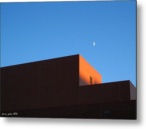 Buildiing Metal Print featuring the photograph Moon With Brick by Gerard Yates