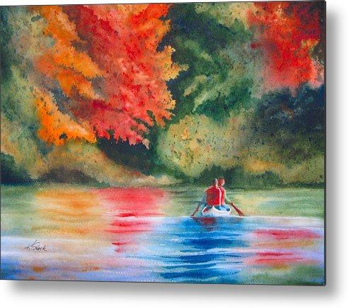 Lake Metal Print featuring the painting Morning On The Lake by Karen Stark