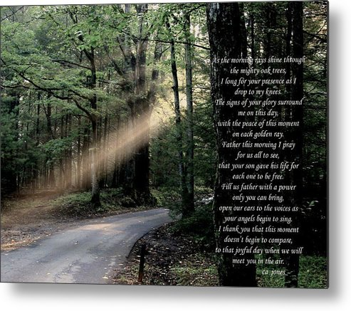 Christian Metal Print featuring the photograph Morning Prayer by Chris Jones