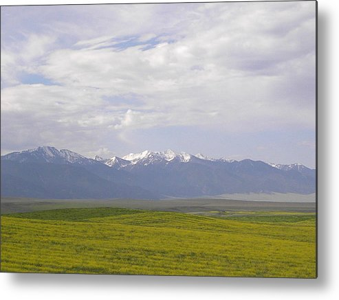 Mountain Metal Print featuring the photograph Mountains by Charles