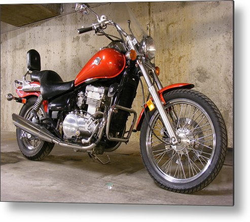 Motorbike Metal Print featuring the photograph My Ride 04 by Attila Jacob Ferenczi
