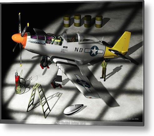 Jim Coe Metal Print featuring the digital art New Bird Arrives by Jim Coe