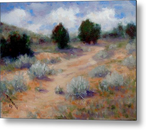 Realism Metal Print featuring the painting North Of Santa Fe by Donelli DiMaria