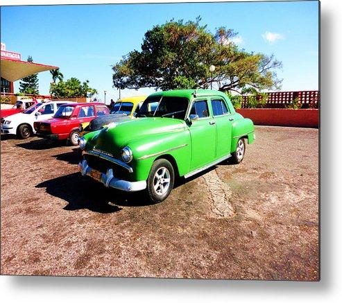 Old Cars Cuba Metal Print featuring the photograph Old Cars Cuba by Yury Bashkin