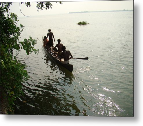 Landscapes Metal Print featuring the photograph Out Fishing by Reshmi Shankar