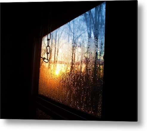 Sunset Metal Print featuring the photograph Out The Trailer Window by Beverly Hammond