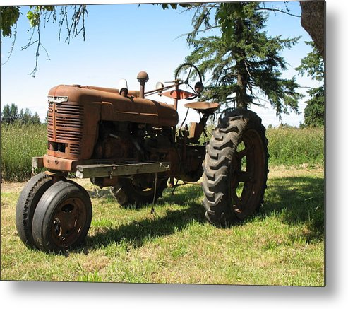 Tractor Metal Print featuring the photograph Out To Pasture by Juli House