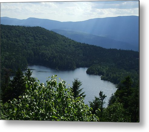 Lake Metal Print featuring the photograph Overlooking The Lake by Amanda Genzone