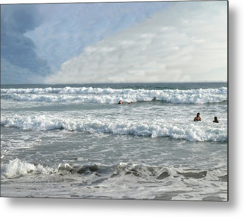 Pacific Metal Print featuring the photograph Pacific Beach by Chuck Shafer