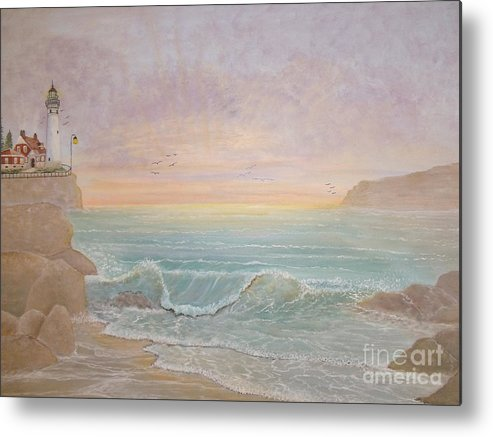 Lighthouse Metal Print featuring the painting Paradise by Patti Lennox