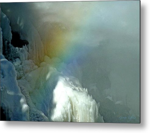 Ice Photography Metal Print featuring the photograph Rainbow Ice Water by George Tuffy