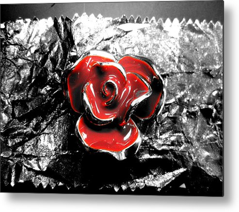 Flower Metal Print featuring the photograph Red Rose by Anna Thomas