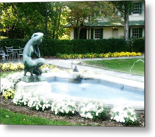 Fountain Metal Print featuring the photograph Reynolda Fountain by Scarlett Royal
