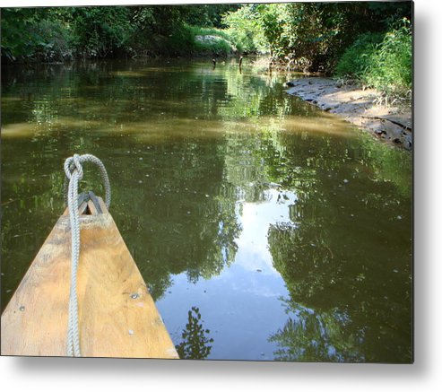 Canoe Metal Print featuring the photograph Right There With Me ... by PJ Cloud