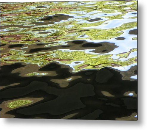 Abstract Metal Print featuring the photograph River Abstract by Lenore Senior