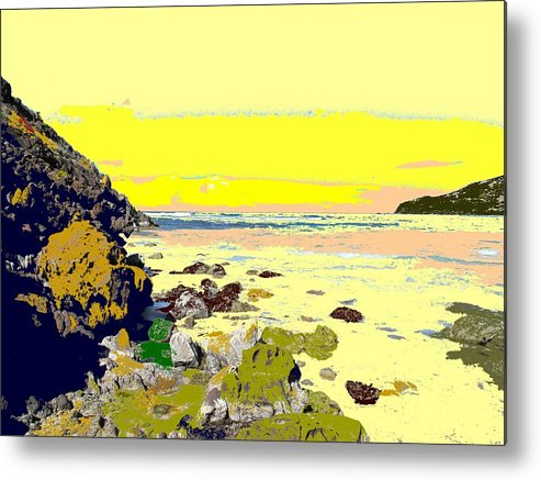Beach Metal Print featuring the photograph Rocky Beach by Ian MacDonald