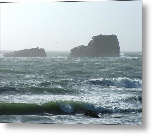 Oceanes Metal Print featuring the photograph Rough Waters by Shari Chavira
