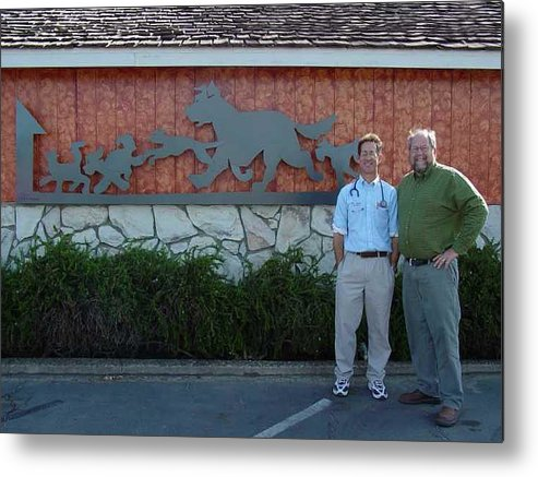 Corporate Commissions Metal Print featuring the sculpture Salida Veterinary Clinic   Sold by Steve Mudge
