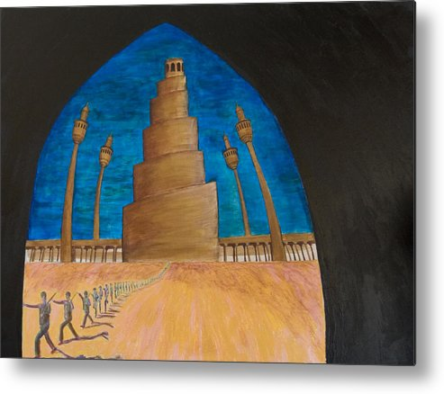 Iraq Metal Print featuring the painting Samarra by Julia Collard