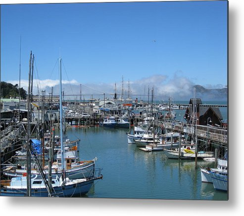 Water Metal Print featuring the photograph San Francisco Fishing Fleet by Jerry Patchin