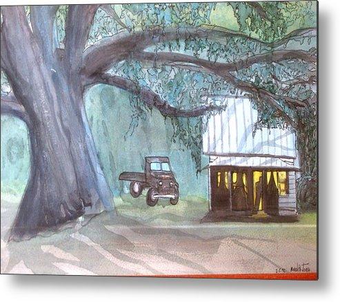 South Metal Print featuring the painting Savannas Backwoods by Meredith Jones