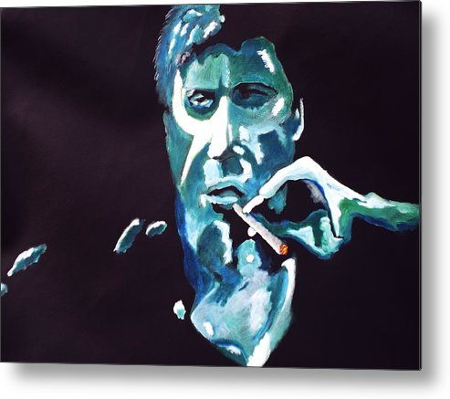 Al Pacino Metal Print featuring the painting Scarface by Colin O neill