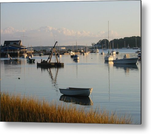 Boats Metal Print featuring the photograph Shelter Island Morning by Russ Harriger