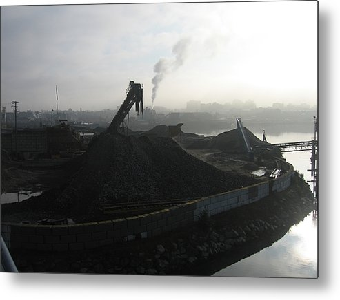 Photograph Ship Yard Ocean Water Victoria Metal Print featuring the photograph Shipyard by Seon-Jeong Kim