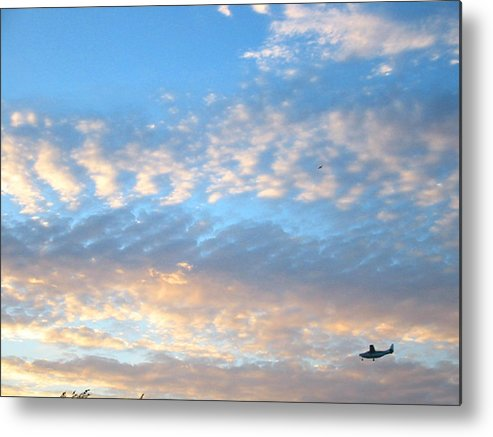 Sky Metal Print featuring the photograph Sky Plane by Gerard Yates