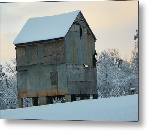 Barns Metal Print featuring the photograph Snow Shelter by Randy Robinson
