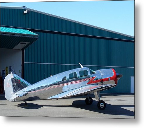 Aircraft Metal Print featuring the photograph Spartan Executive 7w by Gene Ritchhart
