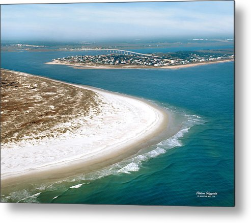 St Augustine Metal Print featuring the painting St Augustine Inlet by Addison Fitzgerald