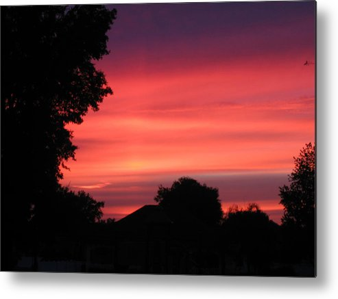 Sunrise-sunset Photographs Metal Print featuring the photograph Stormy Evening Sky by Frederic Kohli