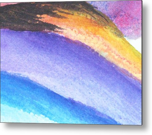 Abstract Metal Print featuring the painting Streaks Of Light by Trilby Cole