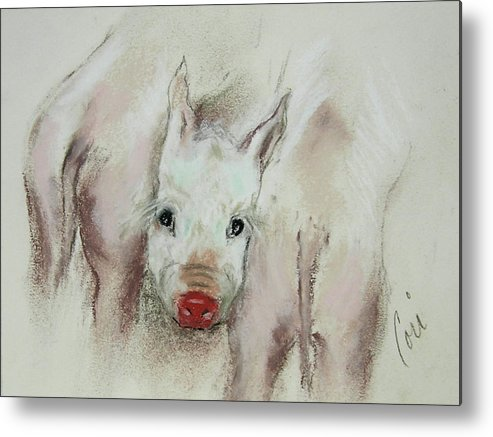 Animal Metal Print featuring the drawing Stuck In The Middle by Cori Solomon