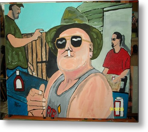 Outdoor Paintings Metal Print featuring the painting Studdy by Jeffrey Foti