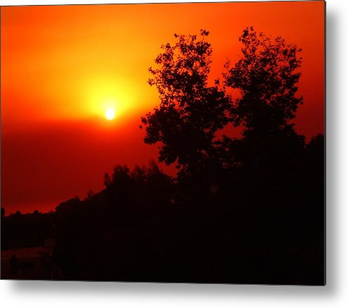 Sunset Metal Print featuring the photograph Sunset After The Fire Carlsbad Ca by Cheryl Ehlers