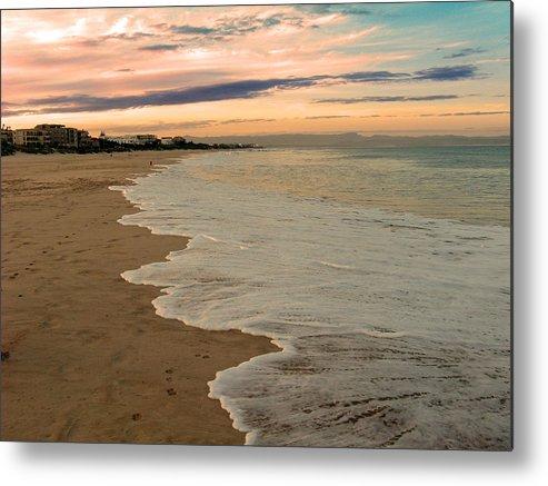 Beach Metal Print featuring the photograph Sunset Beach by Riana Van Staden