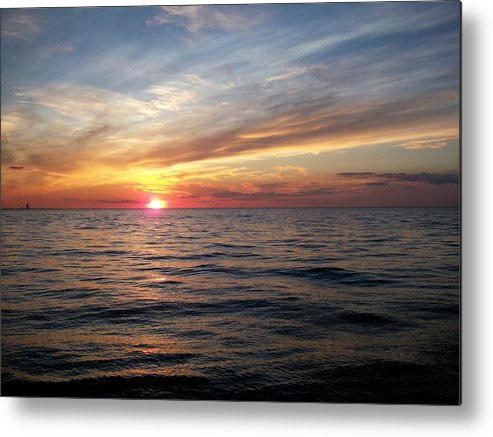Inspiration Metal Print featuring the photograph Sunset On Lake Erie by Patricia R Moore