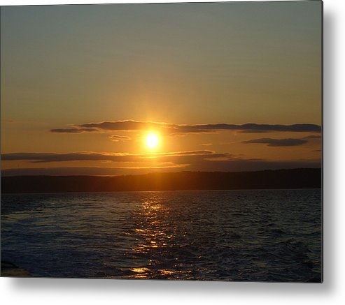 Sunset Metal Print featuring the photograph Sunset On The Horizon  1 by Sharon Stacey